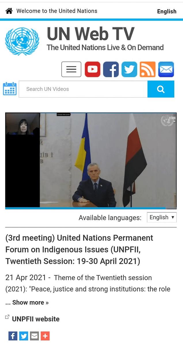 Эрзянский лидер впервые выступил в ООН с обвинениями в адрес Москвы за этноцид коренных народов России - InformNapalm